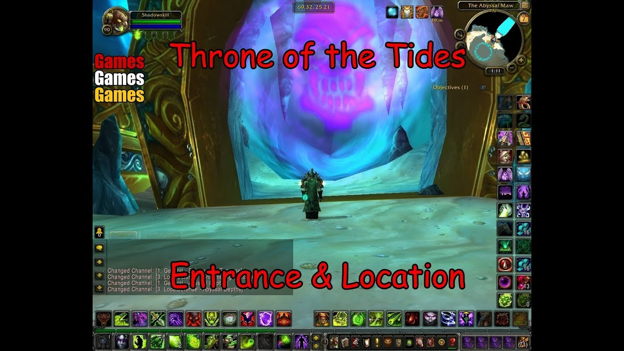 throne of the tides entrance location world of warcraft cataclysm youtube. Black Bedroom Furniture Sets. Home Design Ideas