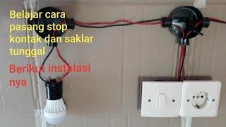 Cara pasang saklar tunggal, stop kontak dan instalasi nya