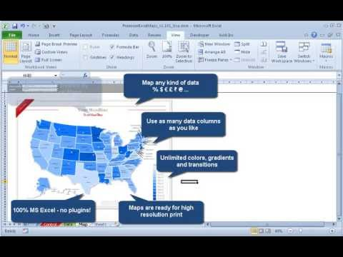 Show Sales Data On Dynamic And Interactive Maps In Excel YouTube - Create us map in excel