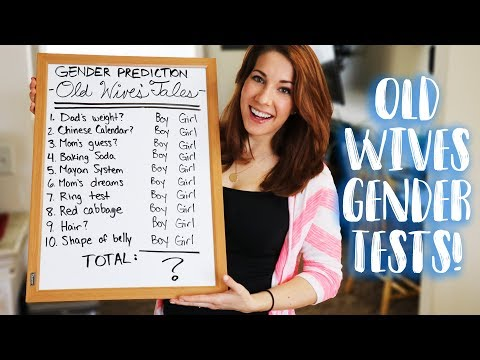 Baby Gender Prediction Tests - Old Wives Tales!