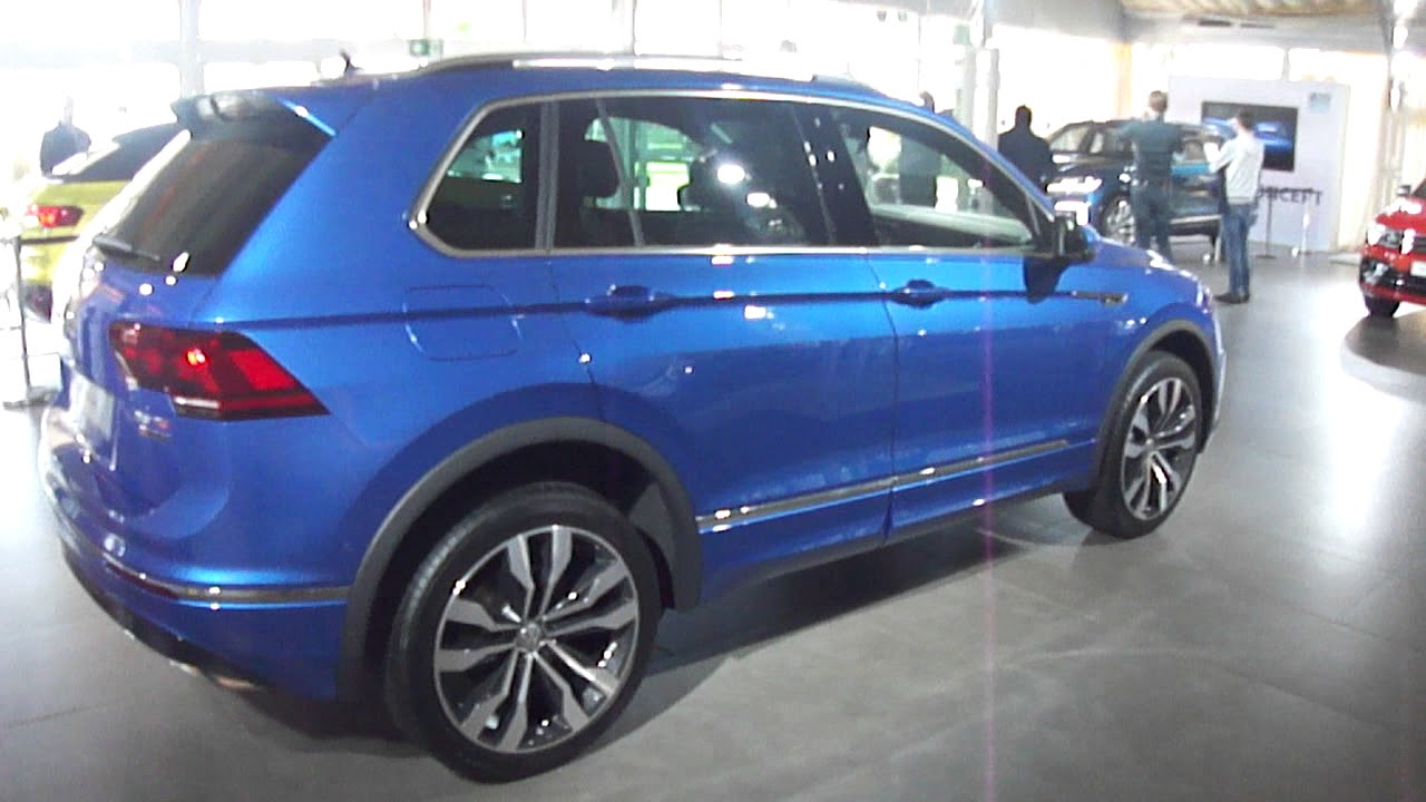 volkswagen new tiguan r line 2018 reefblue metallic walk. Black Bedroom Furniture Sets. Home Design Ideas