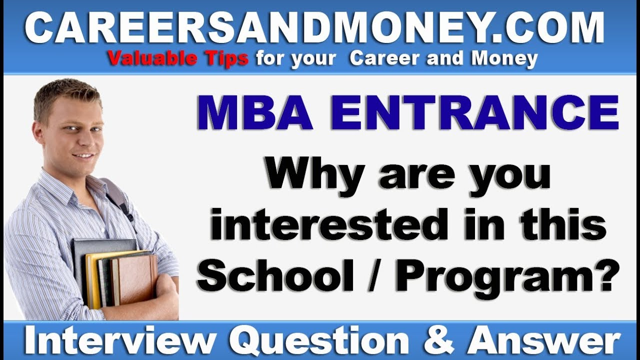 how to answer why mba in interview