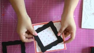 Portaretratos scrap papercraft san valentin