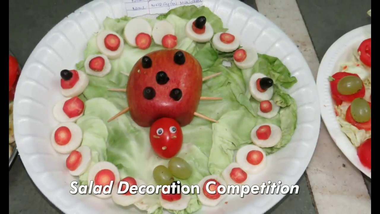 Salad Decoration Competition Youtube