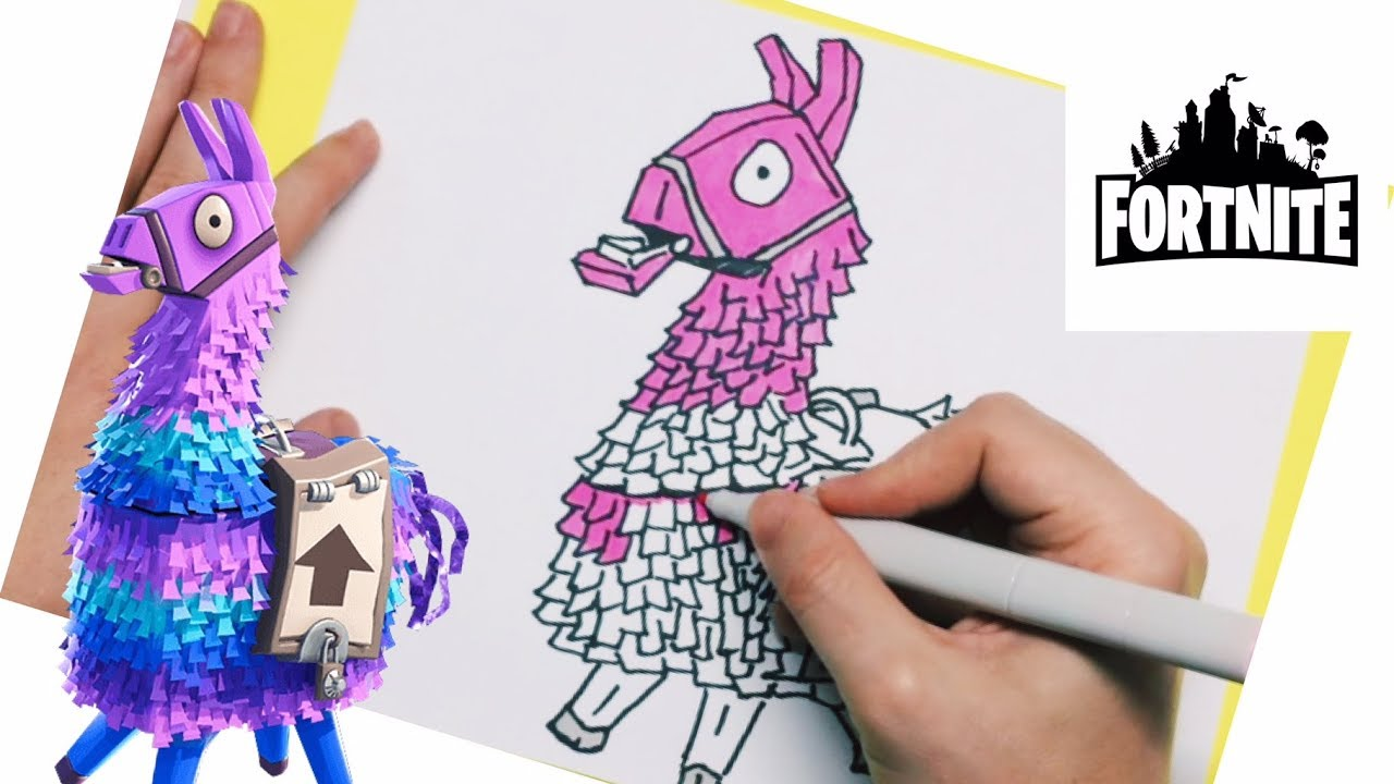 It is a photo of Sizzling Fortnite Llama Drawing