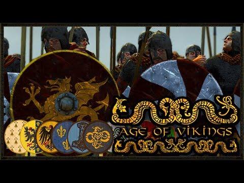 Epic Viking Invasion Battle - Total War: Age Of Vikings Gameplay