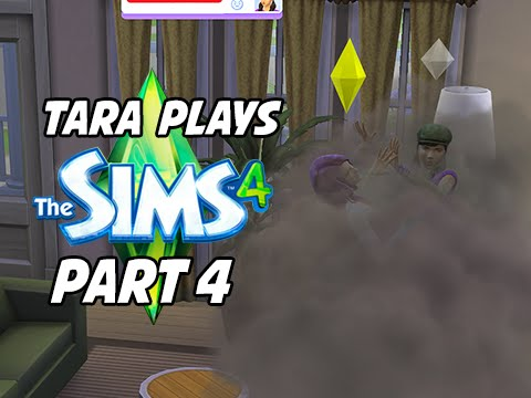 The Sims 4 Gameplay Walkthrough with Tara Part 4 - CAT FIGHT!