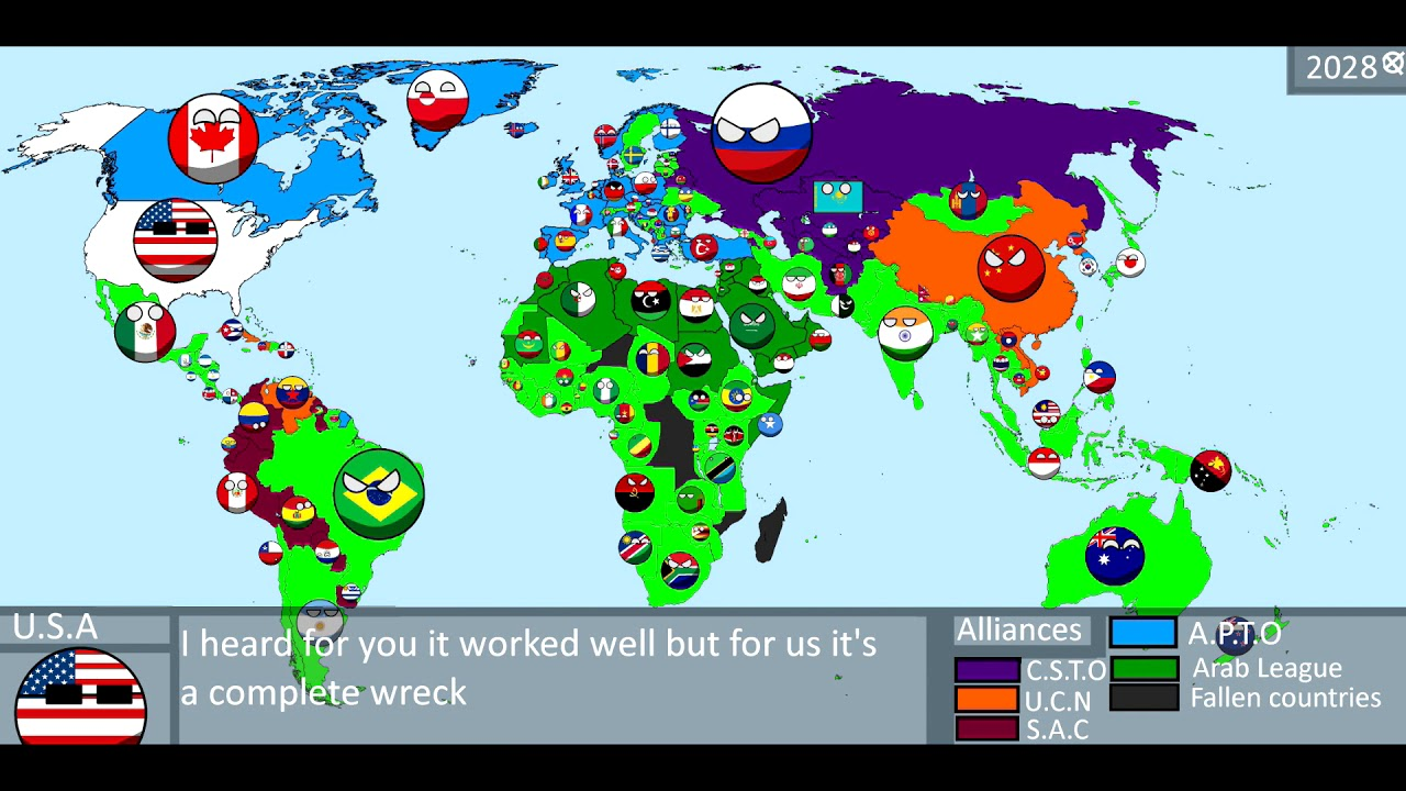 Happy New Year From The Countryballs World Worldball