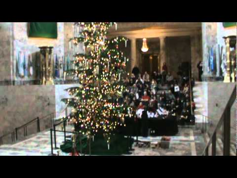 Olympia Christian School Holiday Concert in the State Capitol Rotunda 2 of 2 M2U01817.MPG