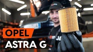 Hvordan bytte oljefilter og motorolje der på OPEL ASTRA-G CC 1 (F48_,F08_) [BRUKSANVISNING AUTODOC]
