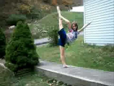 cheer poses heel stretch bow and arrow scale scorpion