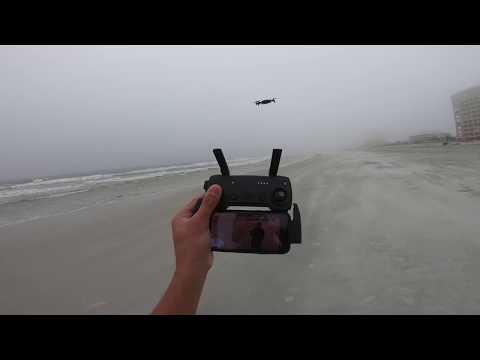 Dji Mavic AiR take off and landing Extreme Wind Rain Performance!