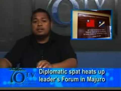 Diplomatic Spat Heats Up Leader's Forum In Majuro
