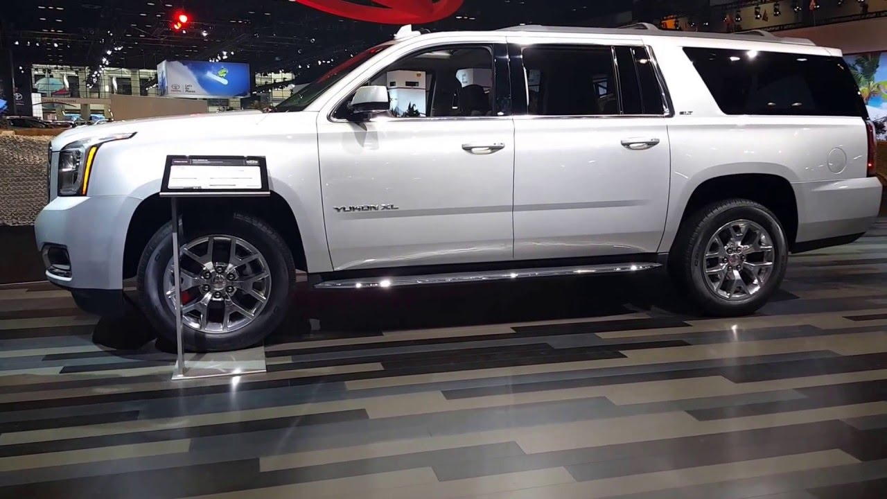 2016 gmc yukon xl interior 2016 chicago auto show youtube. Black Bedroom Furniture Sets. Home Design Ideas