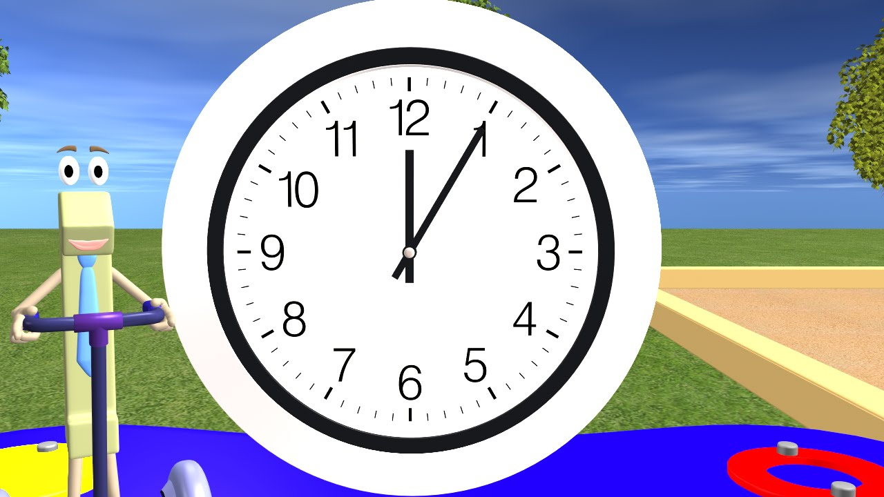 Online Analog Clock Telling Time For Children Learning The Clock