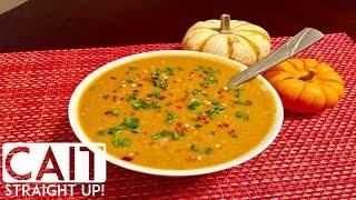 Simple Slow Cooker Pumpkin Soup | Cait Straight Up