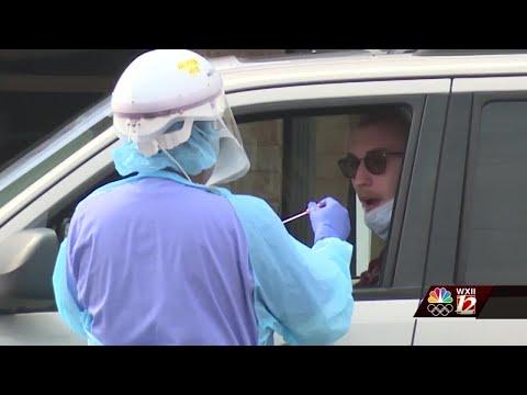 Drive-thru Coronavirus Testing Begins In Greensboro.