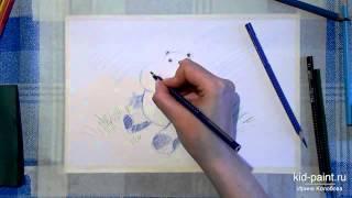 26 Ирина Колобова   Урок рисования бегемотика