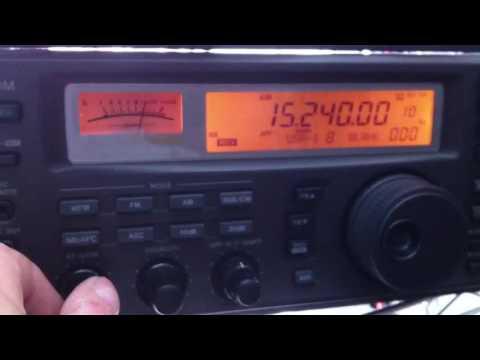 Uganda Radio Station on 15.240 khz at 6:20 UTC 28/5/2016
