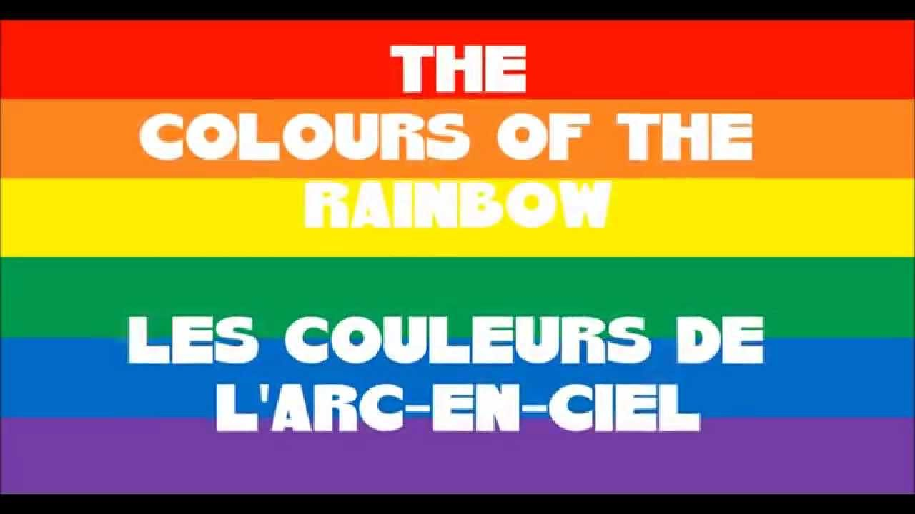 the colours of the rainbow les couleurs de l 39 arc en ciel en anglais et en fran ais youtube. Black Bedroom Furniture Sets. Home Design Ideas
