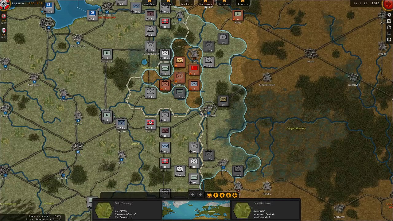 Strategic Command WW2 War In Europe Barbarossa