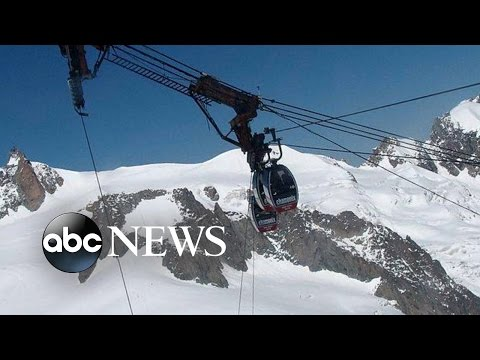 Stranded Passengers Rescued From Cable Cars in the French Alps