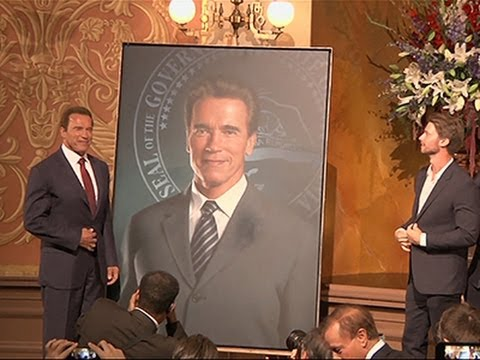 Schwarzenegger Reveals Austrian Artist Portrait