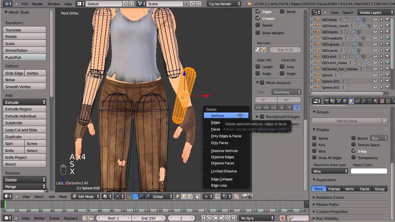 Creating Ragdoll Rigs in Blender - part 01