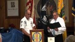 Roy Johnson Mayor of Holly Hill Awards Joe Pizzimenti a Procamation