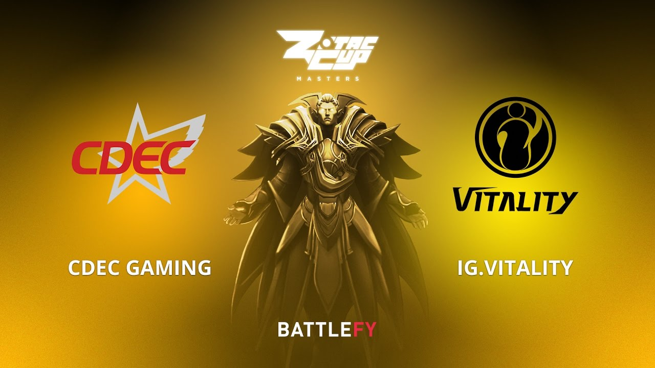 CDEC Gaming vs IG.Vitality, Game 1, Zotac Cup Masters, CN Qualifier
