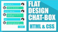 Flat Design ChatBox - HTML & CSS