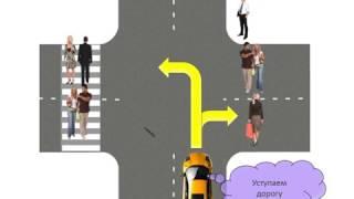 Проезд нерегулируемых перекрестков  Очередность проезда перекрестков, когда главная дорога меняет на