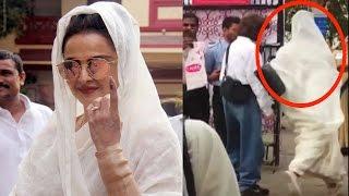 Vote देकर क्यों भागी Rekha   BMC Elections 2017