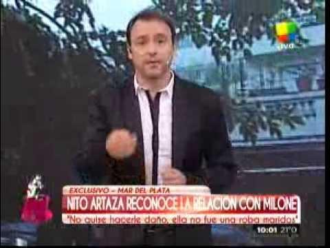 """Nito Artaza: """"A Cecilia Milone le guardo gran respeto y afecto"""""""