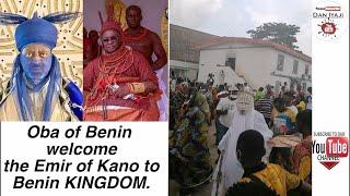 Oba of Benin welcome the Emir of Kano to Benin KINGDOM