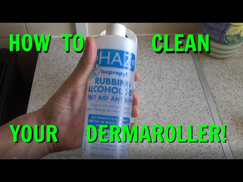 How to clean your dermaroller using alcohol