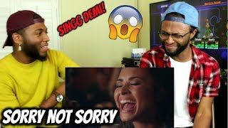 "Demi Lovato - ""Sorry Not Sorry"" Live in the Studio (REACTION)"