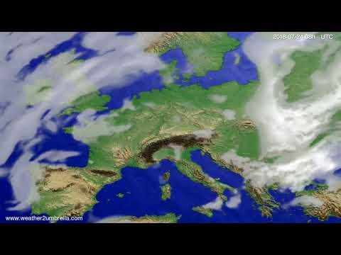 Cloud forecast Europe 2018-07-21
