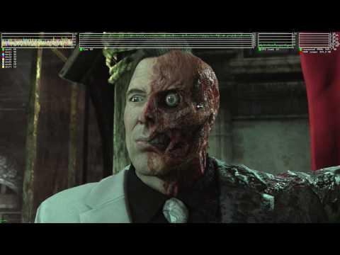 Batman: Arkham City ·· Test#4 ·· Linux + Wine Gallium Nine ·· some drops and a crash