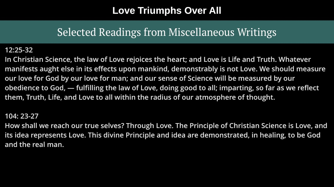 Love Triumphs!