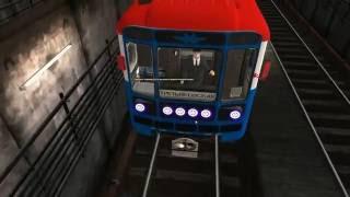 Тест метросигнализации *АЛС* на Калининской линии метро в игре *TRAINZ*