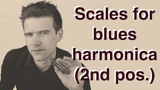 Scales for blues harmonica (2nd position)