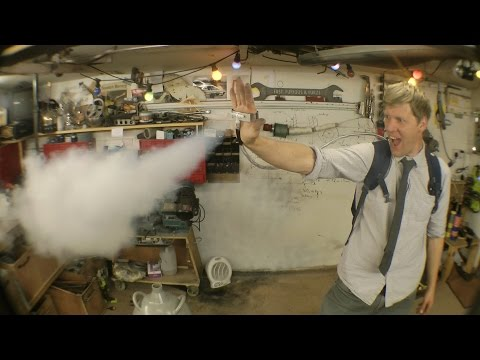 DIY X-Men Ice Man- Palm Mounted Liquid Nitrogen Blasters
