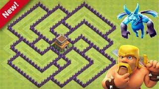 Clash of Clans - Novo layout ''HIBRIDO'' para Cv8 ''ANTI ESTRELAS'' - TH8 Hybrid base 2019