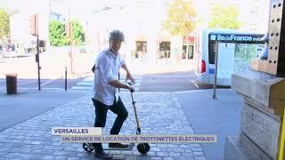 Versailles : Un service de location de trottinettes électriques