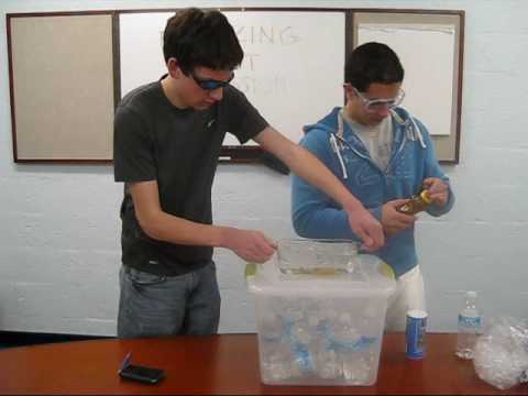 Demonstration Of Freezing Point Depression