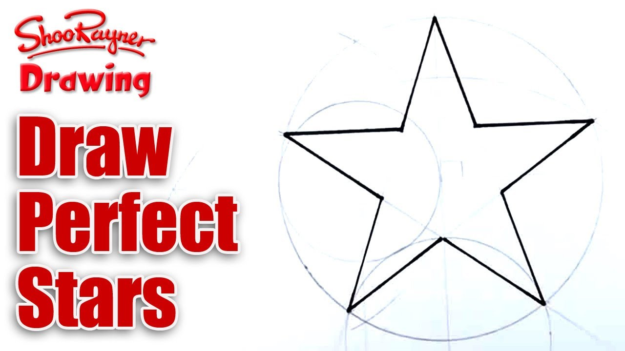 how to draw perfect stars youtube