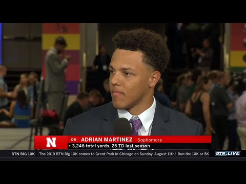 Adrian Martinez, Huskers Discuss Handling the Hype as West Favorites | 2019 B1G Football Media Days