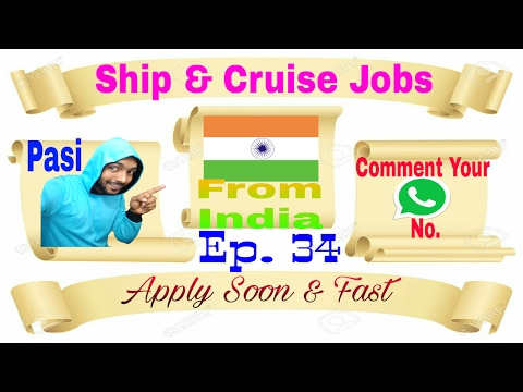 New Ship And Cruise Jobs From India To Abroad  From Best Recruitment Agency In India 18/02/2017