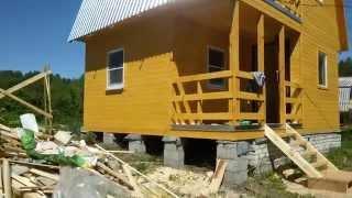 Дачный каркасный дом.(Дачный каркасный дом 5х6м., 2015-05-29T14:07:44.000Z)